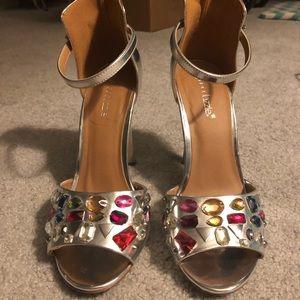 Shoedazzle silver pumps
